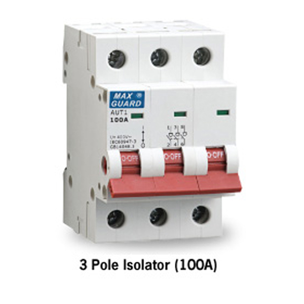 3 Pole Isolator (100A)