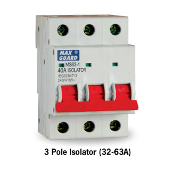 3 Pole Isolator (32-63A)