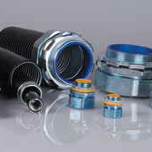 Heavy gauge watertight flexible conduit adaptor ef type