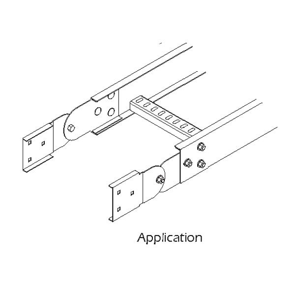 steel cable ladder  u2013 vertical adjustable splice plate
