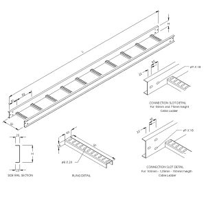 Steel Cable Ladder – Straight