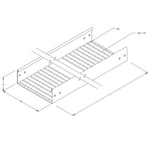 Steel Perforated Cable Tray – Straight